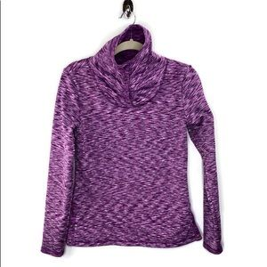 Athleta Coastal Fleece Pullover Purple Space Dye S